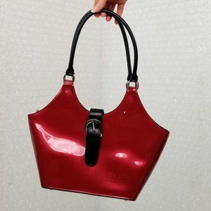 Beijo red vinyl bag